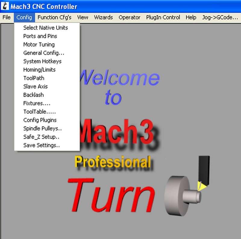 Myford ML-7 lathe CNC conversion - Part 4: Configuring Mach 3